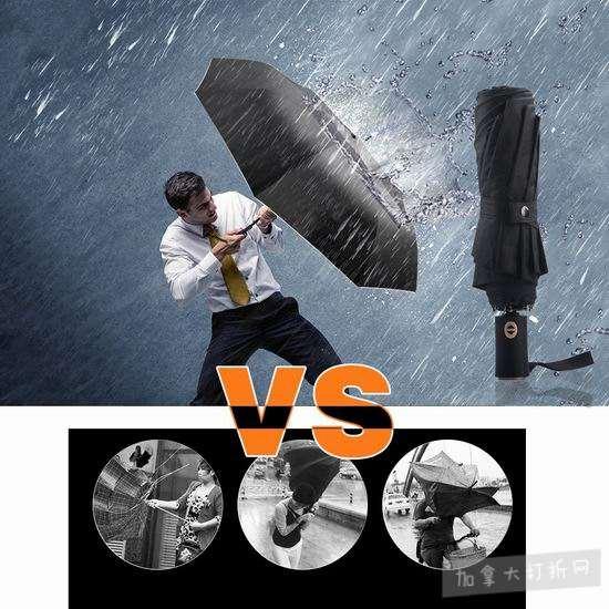历史新低!Thiroom 折叠式 防风自动雨伞3.2折 10.99加元清仓!
