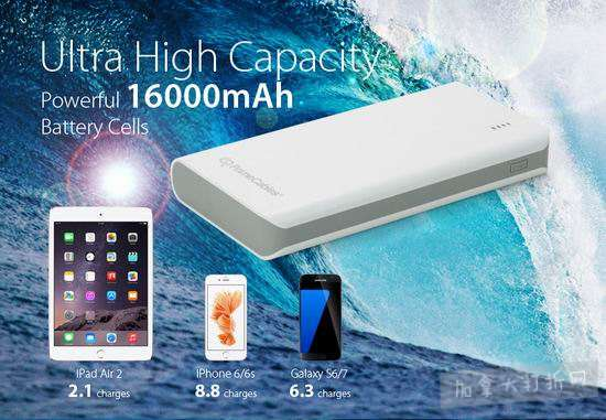 PrimeCables 16000mAh 双口便携式移动电源/充电宝 9.99加元清仓!仅限今日!