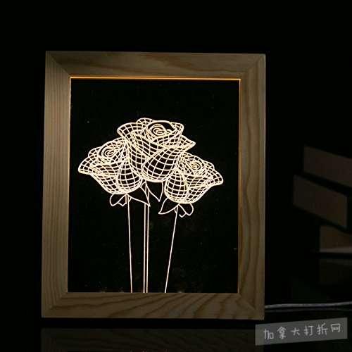 白菜价!历史新低!POTO LED 装饰3D夜灯相框1.8折 2.69-2.99加元清仓!2款可选!