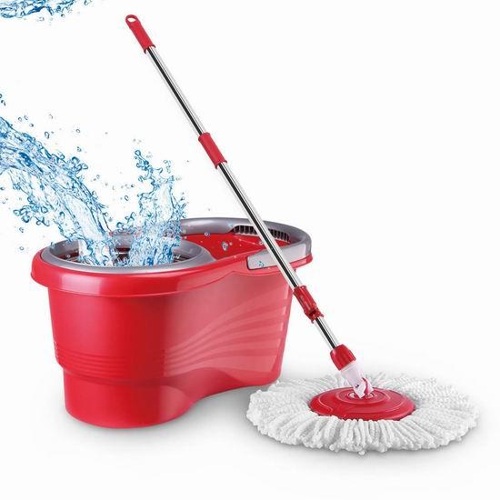 CleanWise 旋转拖把+不锈钢脱水水桶套装 29.99加元包邮!