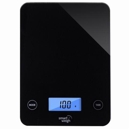 金盒头条:历史新低!Smart Weigh 高精度钢化玻璃厨房秤4.2折 16.79-16.99加元!两色可选!