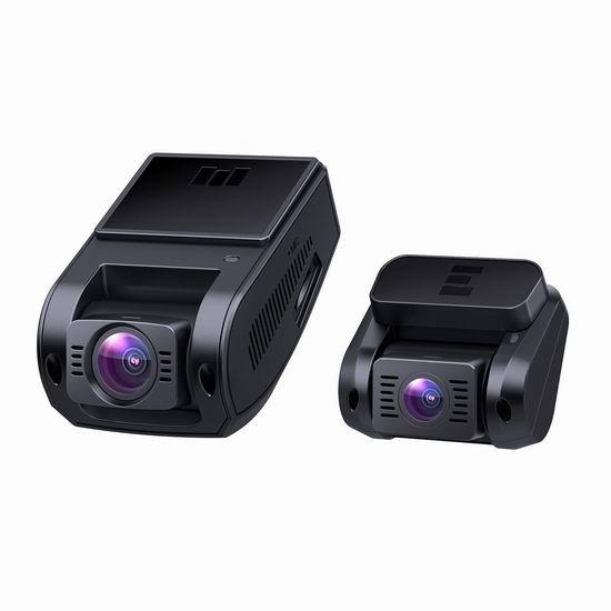 AUKEY 1080P高清170度超广角夜视 前后双摄像头 行车记录仪 122.39加元限量特卖并包邮!
