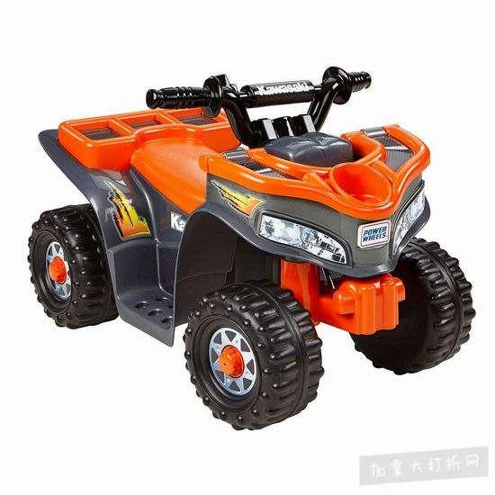 历史新低!Fisher-Price 费雪 Power Wheels Kawasaki 儿童四轮电动车4.7折 69.99加元包邮!