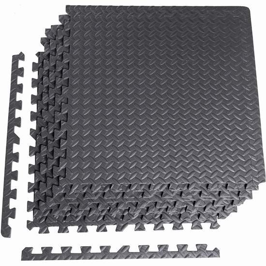 手慢无!CAP Barbell 高密度拼接地垫6件套4折 19.08加元!