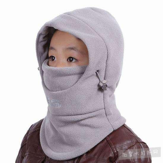 Xianheng 五合一 儿童防风保暖 面罩/围巾/帽子 10.99加元清仓!男女2色可选!