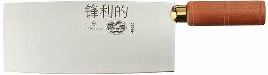 历史新低!Victorinox 维氏 Swiss Army 瑞士军刀 40090 厨刀系列 8英寸不锈钢 中式菜刀/厨刀 60.69加元包邮!
