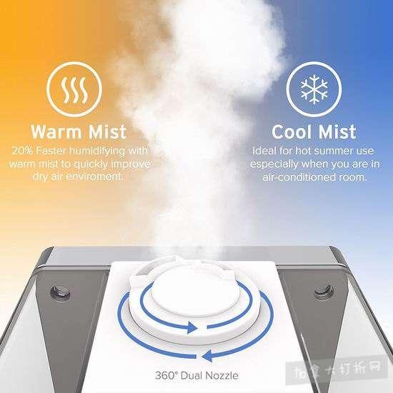 Levoit LV600HH 超声波冷暖雾静音加湿器6.9折 90加元包邮!