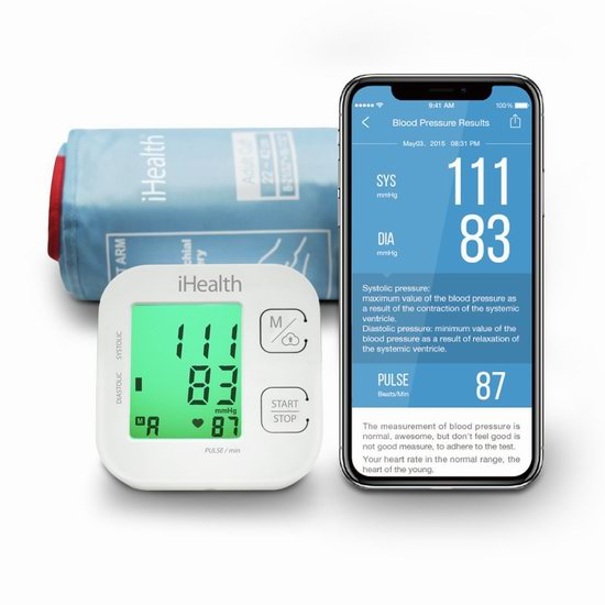 又上货了!历史最低价!iHealth Track 家用智能蓝牙无线 心率监测 臂式血压计5.8折 29.95加元!