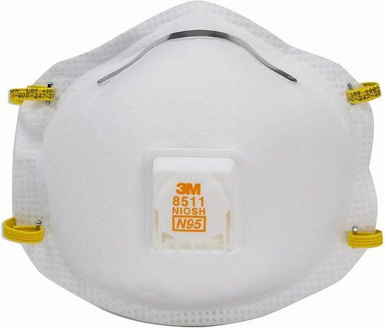 手慢无!3M Pro 8511 N95专业防护口罩(10件装)30.25加元!