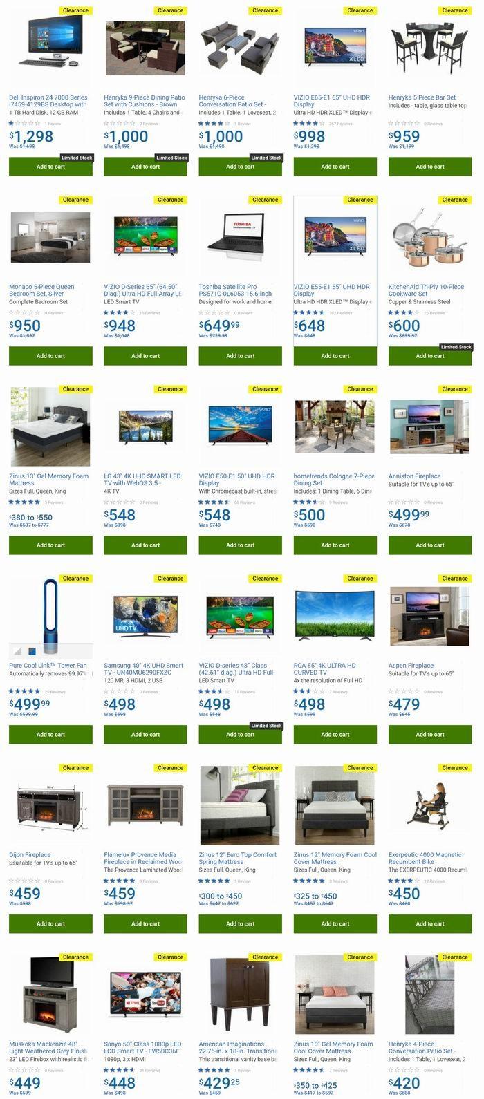 精选 LG、VIZIO、Sharp等电视品牌及庭院藤椅清仓特卖!