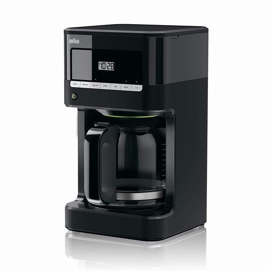 历史最低价!Braun 德国博朗 KF7000BK Brew Sense 可编程 滴滤式咖啡机4.8折 57.98加元包邮!