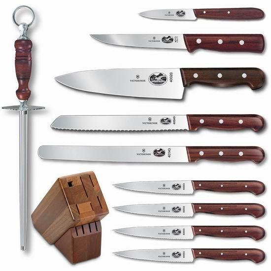 售价大降!历史新低!Victorinox 瑞士军刀 46153 经典款11件套厨房刀具组合4.9折 299.42加元包邮!