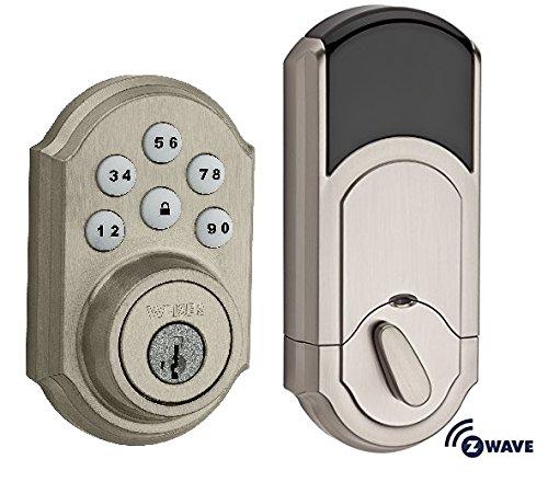 近史低价!Weiser 9GED14950-001 SmartCode 5 智能电子密码门锁 112.43加元包邮!