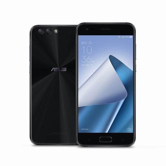 历史新低!Asus 华硕 ZenFone 4 5.5英寸解锁版 双卡双待 智能手机(4GB/64GB)4.5折 249加元包邮!