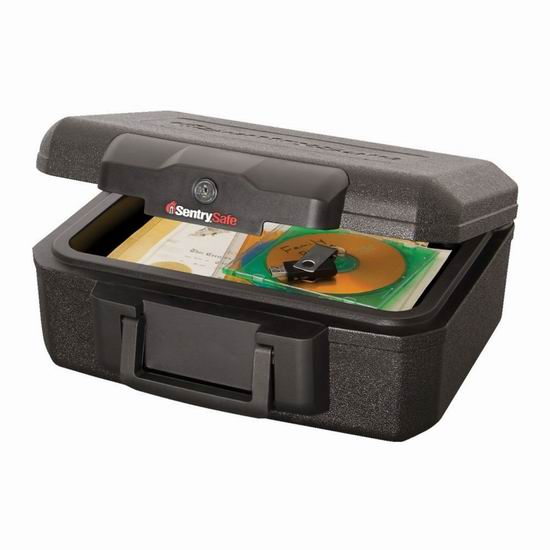 白菜价!历史新低!SentrySafe 1200BLK 防火保险箱3.9折 17.49加元包邮!会员专享!