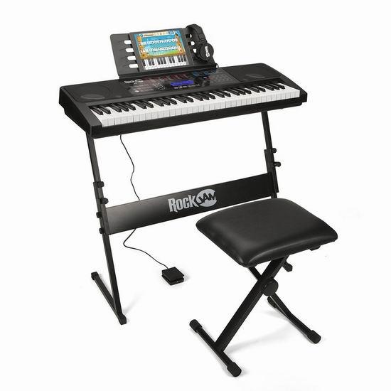 RockJam RJ761-SK 电子互动教学 61键电子琴套装 206.56加元包邮!