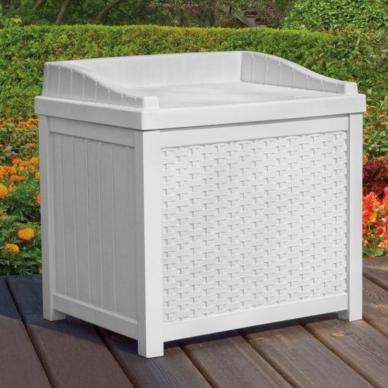 历史新低!Suncast SSW1200W 22加仑 庭院白色储物箱/休息凳4.2折 61.99加元包邮!