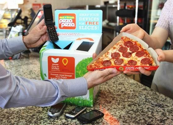 Pizza Pizza 4月地球环保月回收电子废旧品,免费送披萨!