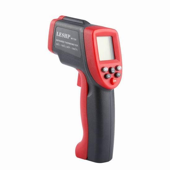 手慢无!LESHP -50-750°C 数字激光红外测温仪2.6折 12加元限量特卖并包邮!