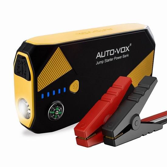 AUTO-VOX 14000mAh 500A 便携式充电宝/汽车电瓶紧急启动电源 76.49加元限量特卖并包邮!