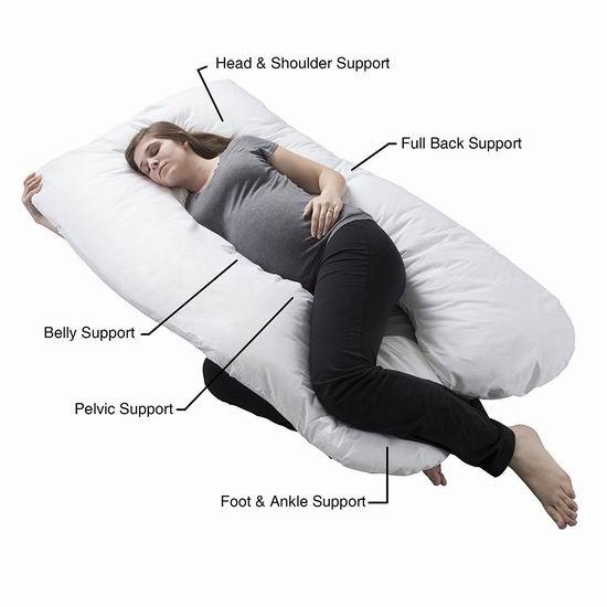 手慢无!历史新低!Remedy U型身体支撑枕/孕妇身体枕3.5折 46.99加元包邮!