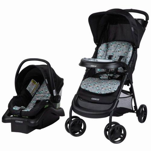 历史新低!Cosco 01119CDFL Lift and Stroll Plus 婴儿推车+婴儿提篮旅行套装 6折131.98加元起包邮!2色可选