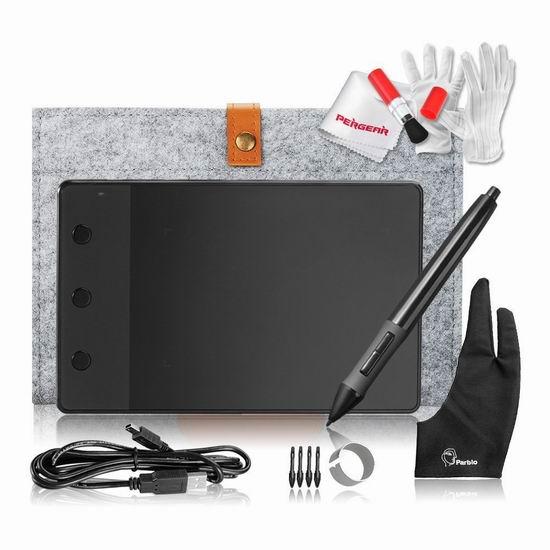 Huion 绘王 H420 USB 数位板/电脑绘画板/手写板超值套装 29.74加元限量特卖!