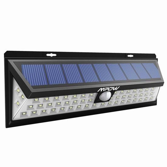 Mpow 54LED 超级亮 太阳能运动感应灯 23.79加元限量特卖并包邮!