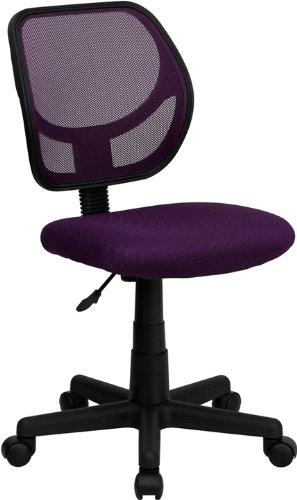 白菜价!历史新低!Flash Furniture WA-3074-PUR-GG 紫色中靠背 旋转办公椅2.5折 34.99加元清仓!