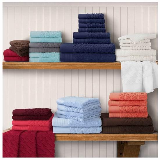 历史新低!Superior 100%土耳其棉毛巾+浴巾8件套5.2折 45.49加元包邮!多色可选!
