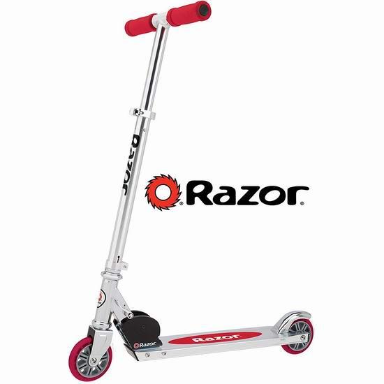 近史低价!Razor A Kick 红色儿童滑板车6.5折 38.86加元包邮!