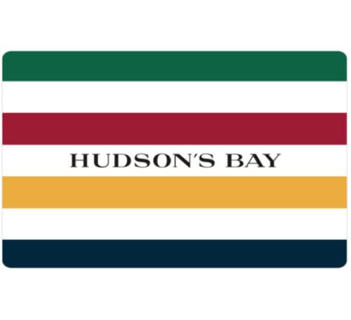 手慢无!Hudson's Bay 电子礼品卡9折特卖!100加元仅售90加元!
