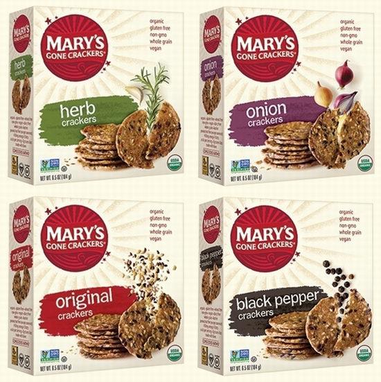 精选Mary's Gone Crackers有机薄脆饼干 8折,满40加元立减10加元!