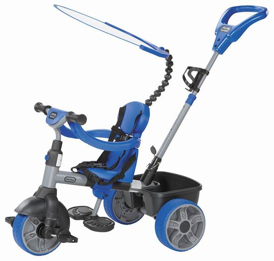 历史新低!Little Tikes 小泰克 Basic 四合一 手推/脚踏 儿童三轮车4.6折 54.97加元包邮!