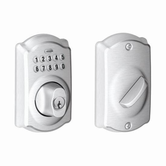 Schlage 西勒奇 BE365 CAM 缎面镀铬 密码门锁6.4折 114.91加元包邮!