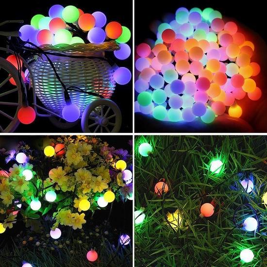 历史新低!Naisidier 50 LED 室内/室外彩色装饰灯 6.99加元清仓!