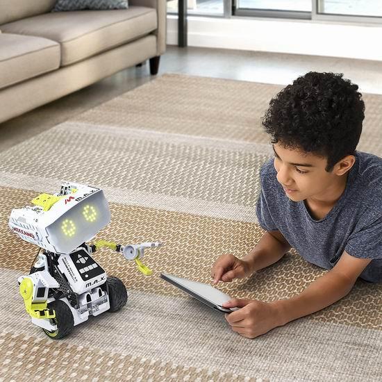 历史最低价!Meccano 6037377 Erector M.A.X 人工智能互动机器人4.7折 90加元包邮!