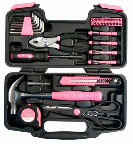 Apollo Precision Tools DT9706P 粉色家用工具39件套 25.9加元!