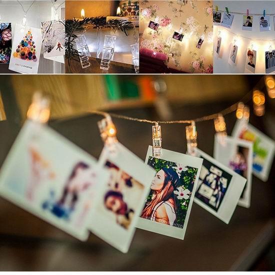 HOMEWE 7.2英尺 浪漫20 LED照片墙装饰灯 照片夹 10.99加元限量特卖!