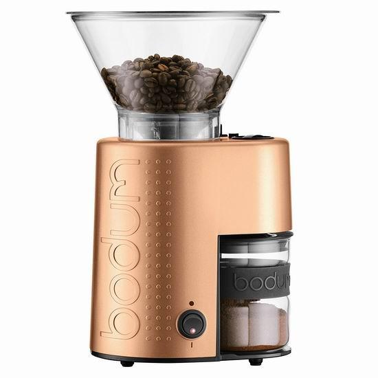 历史新低!Bodum 10903-73US-1 不锈钢电动 咖啡豆研磨机4.8折 105加元包邮!