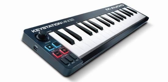 历史最低价!M-Audio Keystation Mini 32键 超便携 USB主控键盘6.3折 69加元包邮!