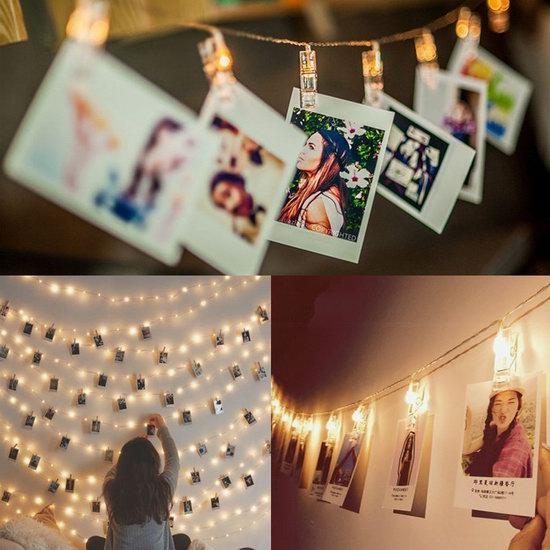 白菜价!Naisidier 50 LED 浪漫照片墙装饰灯/照片夹2.2折 7.99加元清仓!