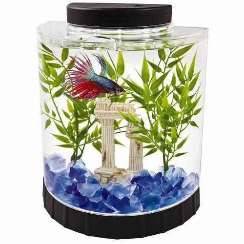 Tetra LED 1.1加仑 Betta 半月形鱼缸/水族箱4.7折 19.29加元!