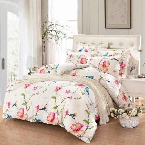 Linen & Cotton 100%纯棉King 印花床上用品3件套 52.99加元,原价 89.99加元,包邮
