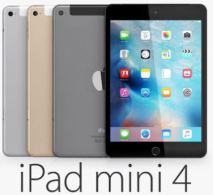 Apple iPad mini 4 WiFi 128GB 平板电脑 429.99加元(3款),原价 549.99加元,包邮