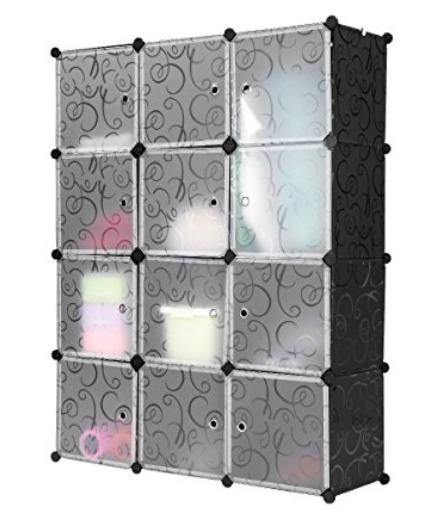 创意设计,可分可组!LANGRIA 12立方储物柜/衣柜 53.79加元限量特卖,原价 67.99加元,包邮