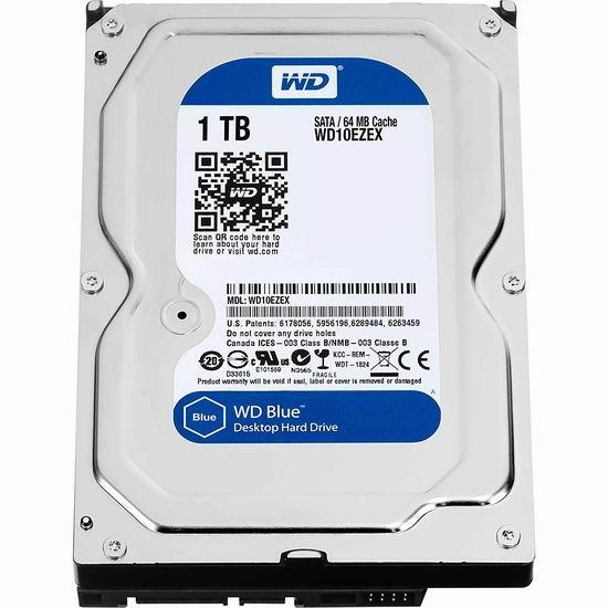 史低价!Western Digital 西部数据 7200 RPM SATA III 1TB 3.5寸台式机硬盘 44.99加元包邮!