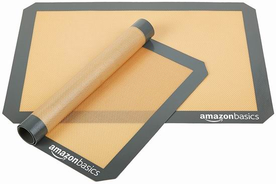 AmazonBasics Silicone 硅胶烘焙垫2件套5.7折 10.92加元!