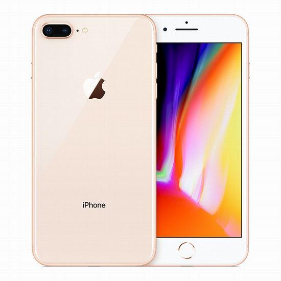翻新 Apple 苹果 iPhone 8 Plus 256GB 金色解锁版 智能手机 819.92加元包邮!今夜10点截止!