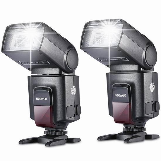 历史新低!Neewer TT520 单反数码相机闪光灯2件套3.7折 48.95加元清仓并包邮!